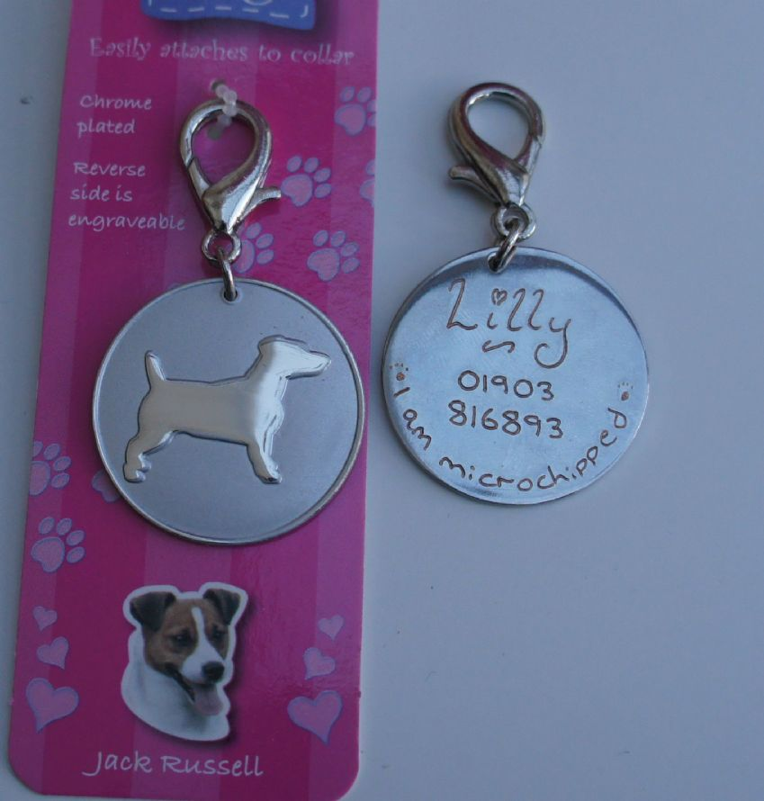 JACK RUSSEL ID TAG -  ENGRAVED FREE